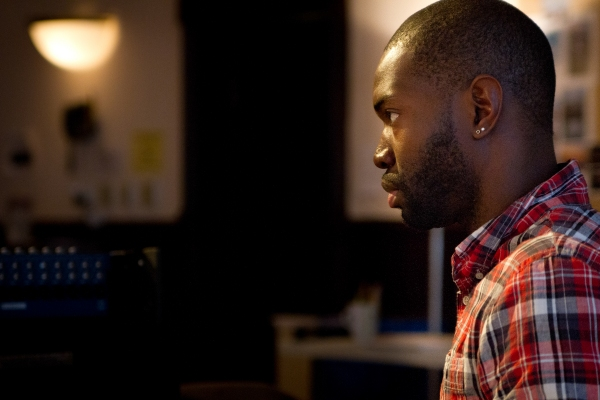 Playwright and ensemble members Tarell Alvin McCraney