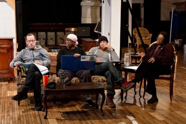 ) Ensemble member Tim Hopper with Cheryl Lynn Bruce, Glenn Davis and Jacqueline Williams