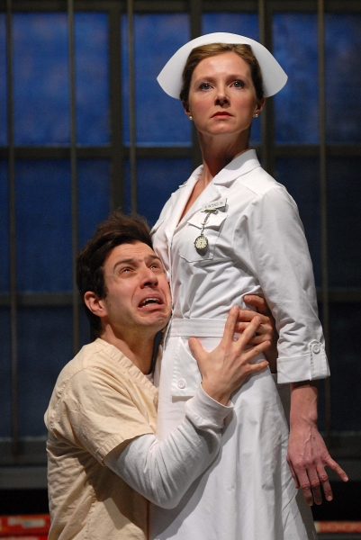 Tim White as Billy Bibbit and Tanya Anderson as Nurse Ratched