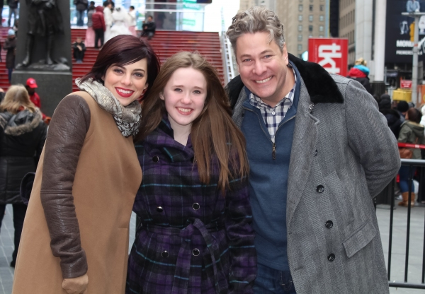 Krysta Rodriguez and Timothy Allen McDonald with Bailey Grey Photo