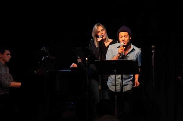 Jaime Cepero with Katie Hotz and Max Mamon on piano