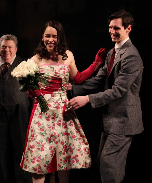 George Wendt & Emilia Clarke & Cory Michael Smith