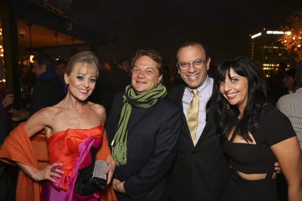 Cast member Tracie Bennett, Playwright Peter Quilter and producers Joey Parnes and S.D. Wagner