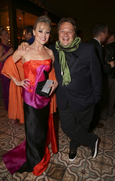 Cast member Tracie Bennett and Playwright Peter Quilter