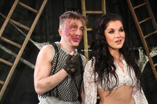 Steven Webb as Quasimodo and Zoe George as Esmerelda