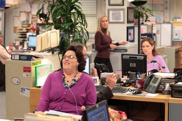 Phyllis Smith, Angela Kinsey, Jenna Fischer