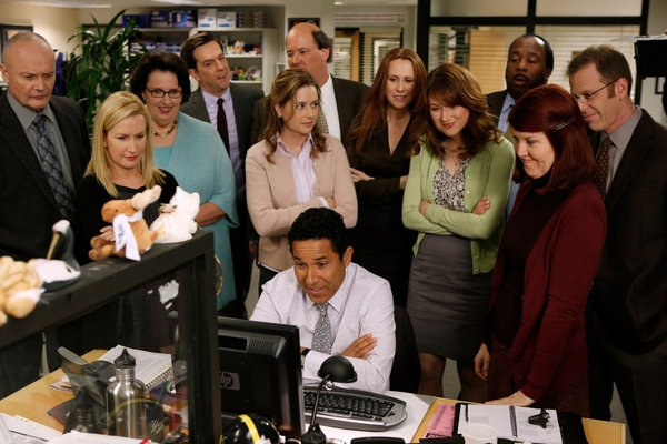 Creed Bratton, Angela Kinsey, Phyllis Smith, Ed Helms, Jenna Fischer, Brian Baumgartner