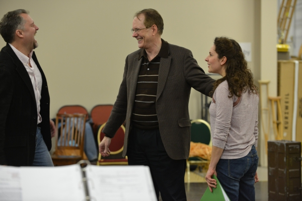 Stephen Buntrock (Emile de Becque), Director David H. Bell and Elizabeth Lanza (Nellie Forbush)
