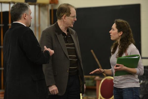 Stephen Buntrock (Emile de Becque), Director David H. Bell and Elizabeth Lanza (Nellie Forbush)