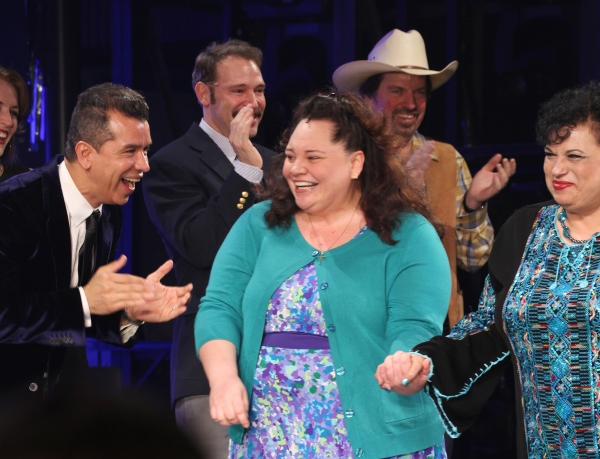 Photo Coverage: HANDS ON A HARDBODY Cast Trucks Their Way to Broadway- Opening Night Curtain Call!