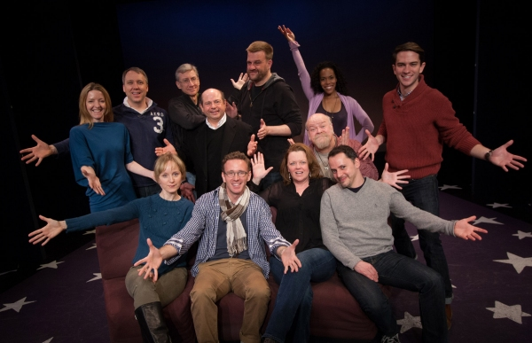 The Cast: (standing) Alet Taylor, Kilty Reidy, David Garrison, Danny Rutigliano, Stephen Wallem, Erick Devine, Erica Dorfler, Andrew Kluger; (seated) Erin Davie, Ben Davis, Leah Hocking, Mark Price