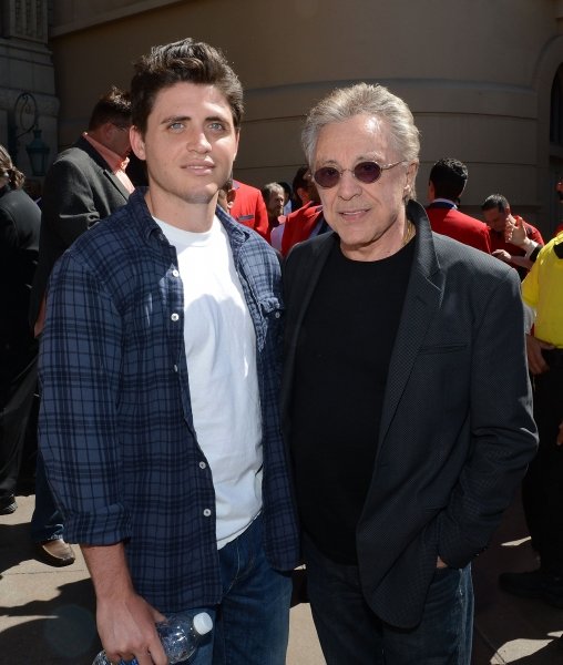 Francesco Valli and his father Frankie Valli