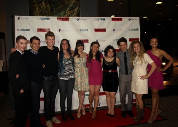 The cast of SPRING AWAKENING with Gretchen Dawson Photo