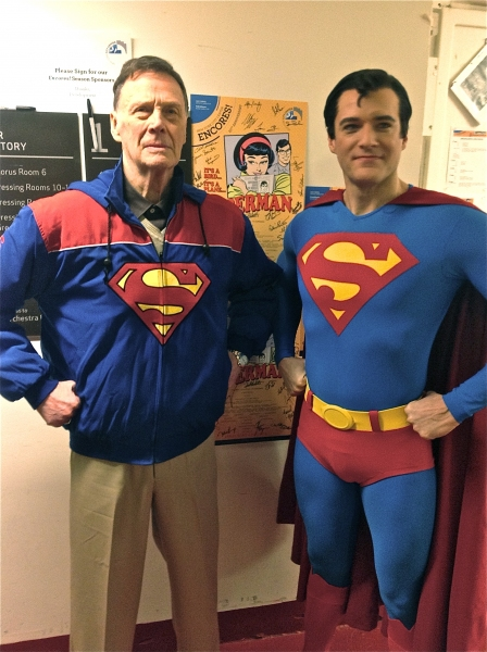Photo Flash: Original Broadway Superman Bob Holiday Visits Encores! IT'S A BIRD...IT'S A PLANE...IT'S SUPERMAN