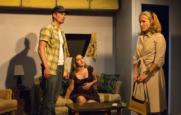 Shawn Parsons, Rebecca Sigl, and Lisa Clifton star in THE BABY DANCE.