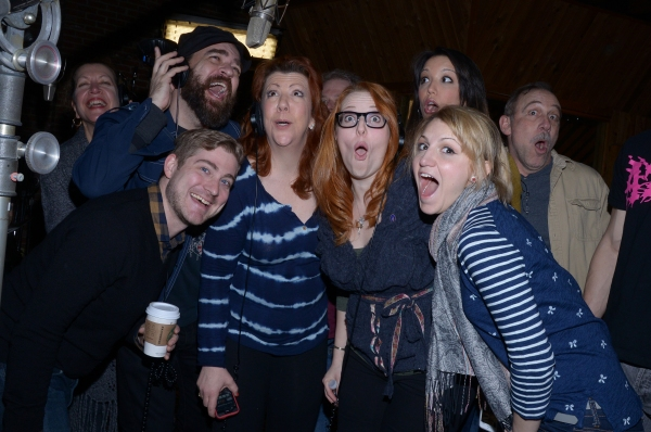 Adinah Alexander, Eric Anderson, Brian Usifer (Music Director), Jennifer Perry, Tory Ross, Annaleigh Ashford, Caroline Bowman (behind), and Stephen Berger