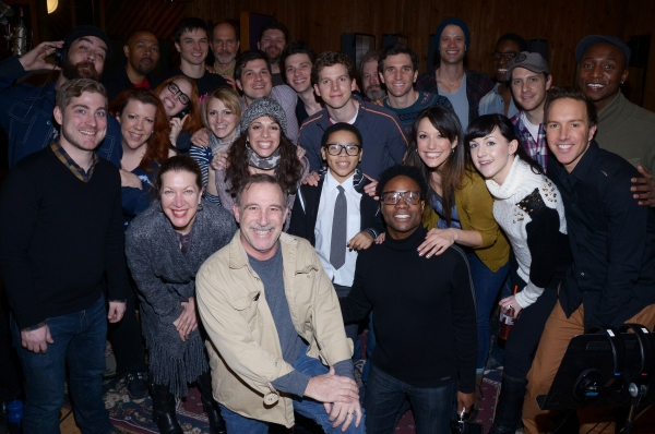 Photo Flash: In the Recording Studio with the Cast of KINKY BOOTS!