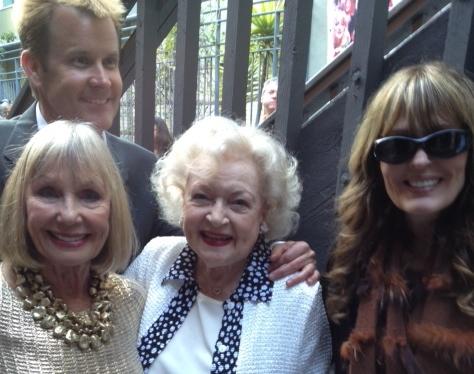 Marla Adams, Actress Betty White, Playwright Lisa Phillips Visca