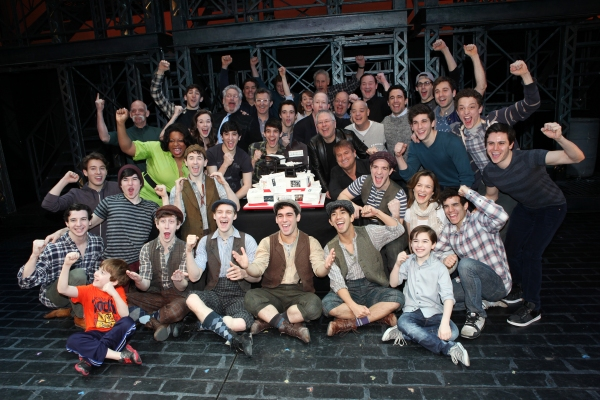 Photo Coverage: NEWSIES Celebrates One Year on Broadway with Cast, Cake & Creatives!
