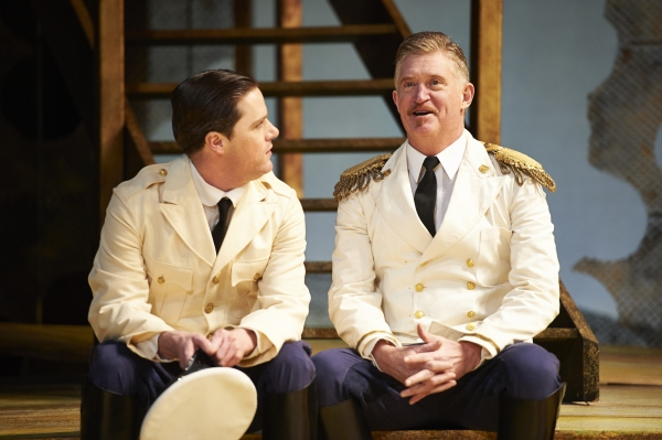 Neil Brookshire (left, as Claudio) and David Anthony Smith (right, as Don Pedro) Photo