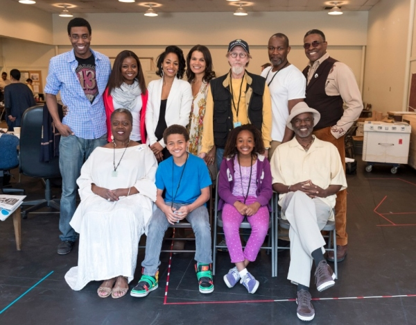 Back row: Gabriel Brown, Erica Tazel, Vivian Nixon, January LaVoy, Raynor Scheine, John Douglas Thompson, Keith David; Seated: Lillias White, Nathaniel James Potvin, Skye Barrett and Glynn Turman