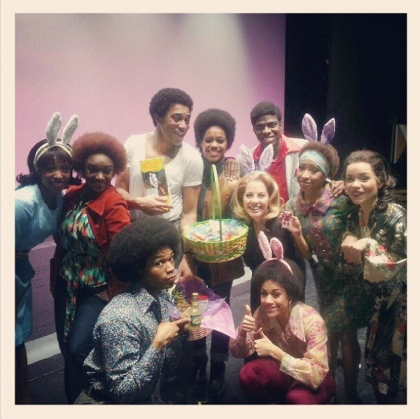 Photo Flash: Saturday Intermission Pics, March 30 - Easter Edition with NICE WORK, NEWSIES, MOTOWN and More!