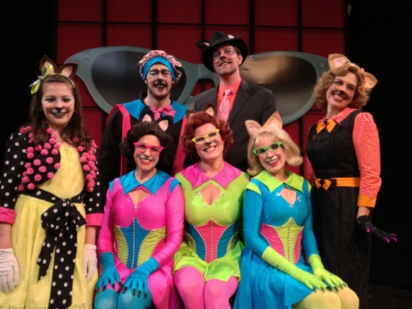 (front) Peyton Iott, Mary Mannix, Shelley Marsh Poggio, Marcia Maslo, Jennifer Smith; (standing in back) Justin Rugg and Jimmy Johansmeyer