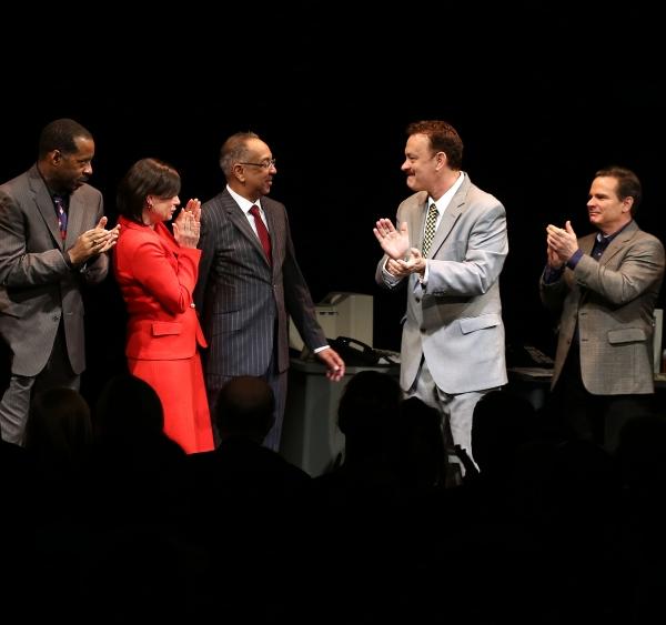 Courtney B. Vance, director George C. Wolfe, Maura Tierney, Tom Hanks, Peter Scolari & Cast