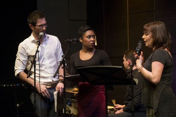 Tom Parsons, Cynthia Erivo and Rebecca Trehearn