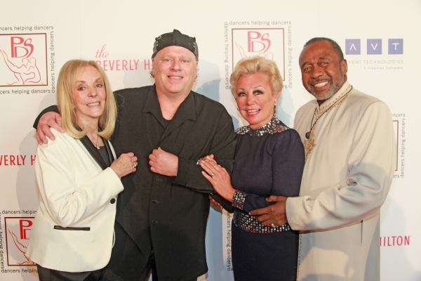 PDS Chairman of the Board Joni Berry, PDS Awardee Michael Rooney, PDS President Mitzi Gaynor and Gypsy Award honoree Ben Vereen.