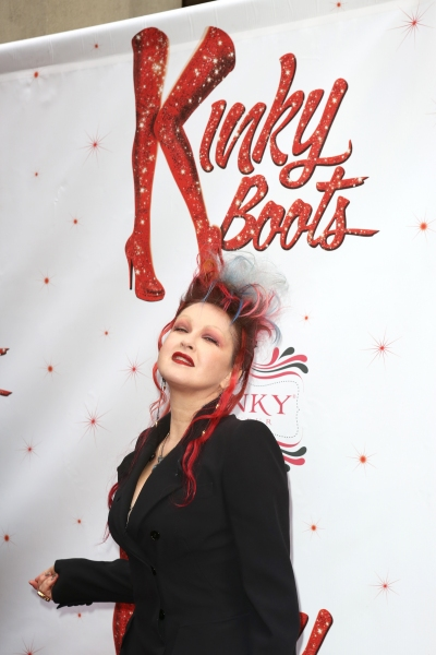 Photo coverage inside kinky boots 39 theatre arrivals part for Cyndi lauper broadway kinky boots