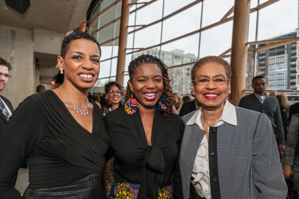 Congresswoman Donna Edwards, playwright Katori Hall and Congresswoman Eleanor Holmes Norton