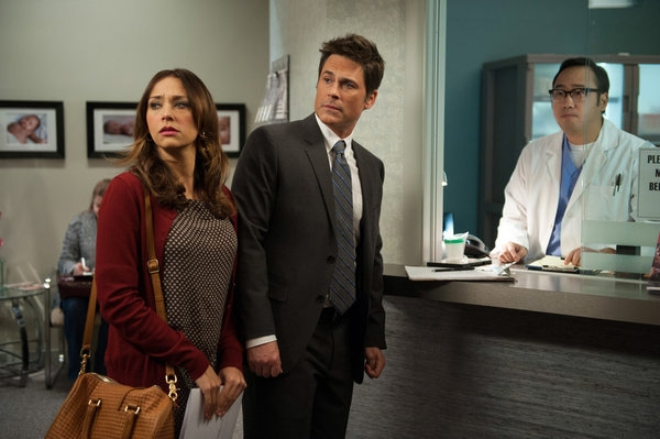 Rashida Jones, Rob Lowe, Mike Nojun Park