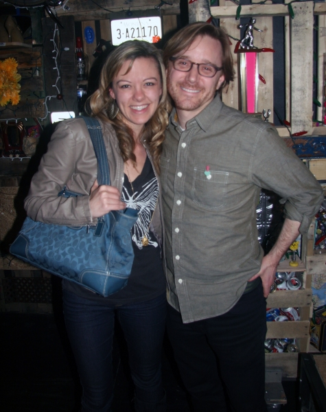 Kate Rockwell and David Eric Davis, composer, lyricist and co-book writer of FUE