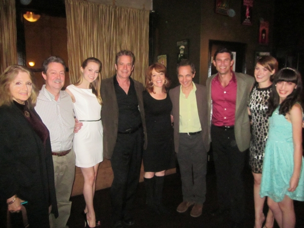 left to right: producer Adryan Russ, musical director Lloyd Cooper, Madison Claire Parks, Robert Yacko, Cynthia Ferrer, Jason Graae, Damon Kirsche, Lisa Livesay, Jenna Rosen