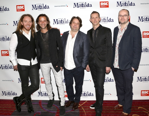 Tim Minchin, Rob Howell, Chris Nightingale, Hugh Vanstone & Dennis Kelly Photo