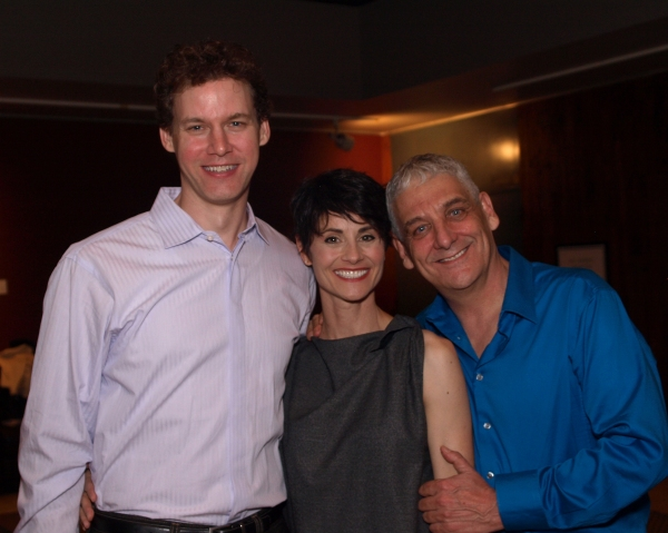Kevin Earley and Beth Malone with Director Glenn Casale
