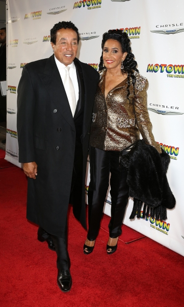Smokey Robinson and wife Frances Gladney