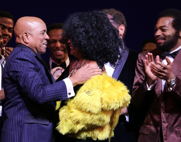 Berry Gordy & Diana Ross with Brandon Victor Dixon