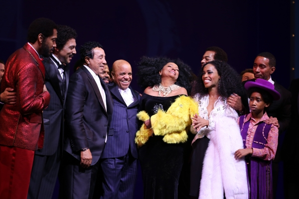 Smokey Robinson, Berry Gordy, Diana Ross, Valisia LeKae, Brandon Victor Dixon, Raymond Luke Jr. and Charles Randolph-Wright