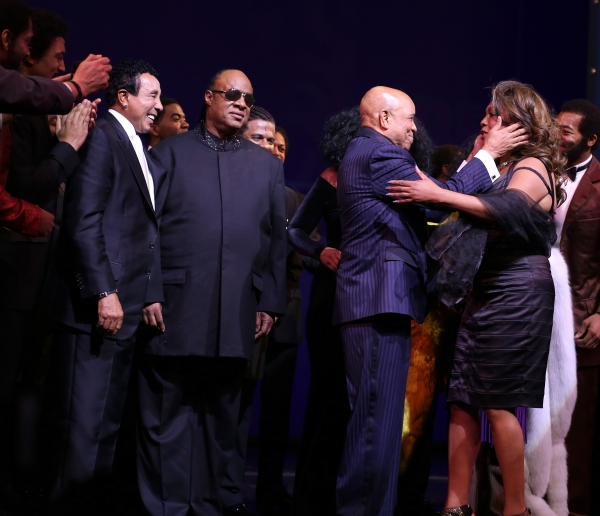 Smokey Robinson, Stevie Wonder, Berry Gordy, Diana Ross & Mary Wilson