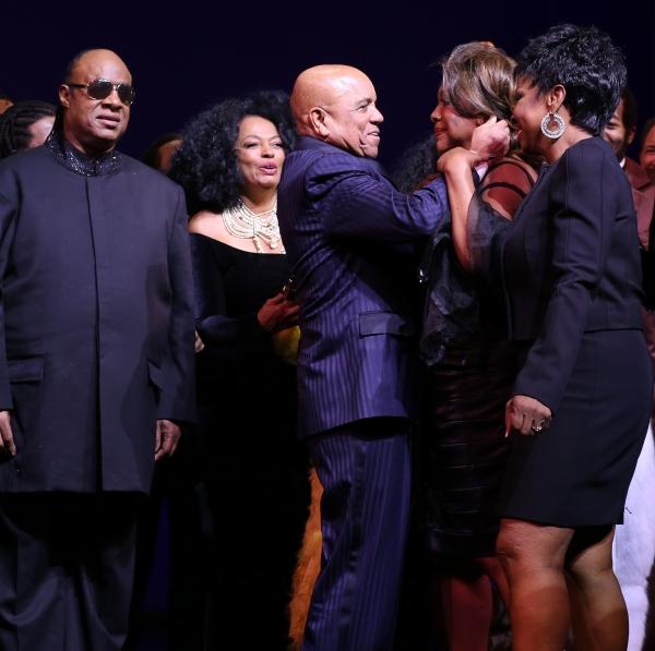 Stevie Wonder, Berry Gordy, Diana Ross, Mary Wilson & Gladys Knight