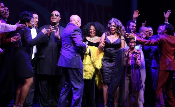 Gladys Knight, Smokey Robinson, Stevie Wonder, Berry Gordy, Diana Ross, Mary Wilson, Valisia LeKae, Charles Randolph-Wright & Company