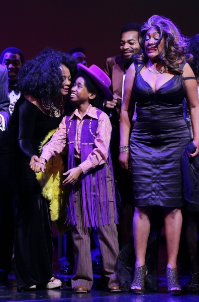 Diana Ross, Raymond Luke Jr., Brandon Victor Dixon and Mary Wilson