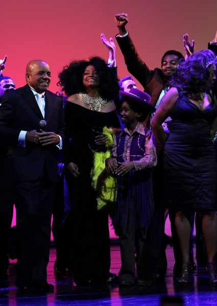 Berry Gordy, Diana Ross, Raymond Luke Jr., Brandon Victor Dixon and Mary Wilson
