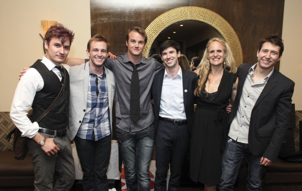Photo Flash: Seth Numrich, Daniel Talbott and More at Rattlestick's SLIPPING Opening Night Party in LA