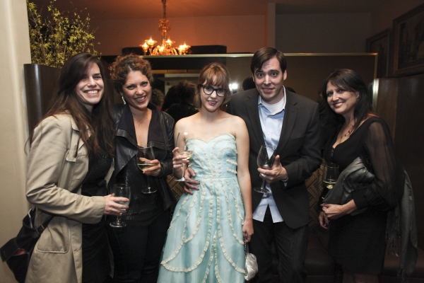 Shana Cooper, Rachel Myers, projection designer Kaitlyn Pietras, Jason Thompson and Kim Jean Taylor