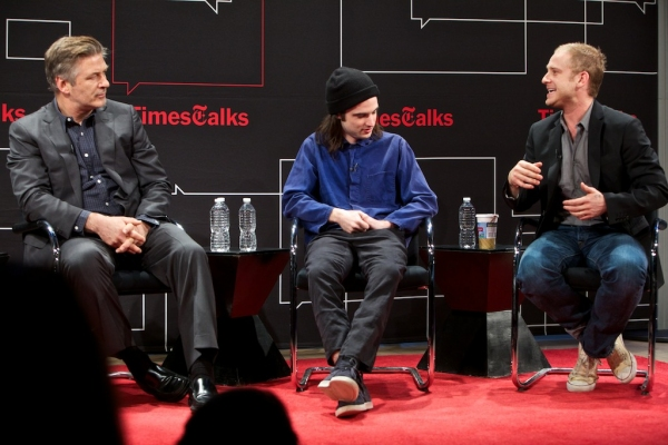 Photo Flash: ORPHANS' Alec Baldwin, Ben Foster and Tom Sturridge at The New York Times' TIMES TALK