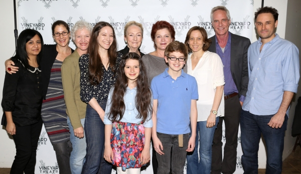The Company: Maria Elena Ramirez, Director Anne Kauffman, Mary Shultz, Brooke Bloom, Kathleen Chalfant, Makenna Ballard, Kate Mulgrew, Griffin Birney, Playwright Jenny Schwartz, Richard Bekins & Greg Keller