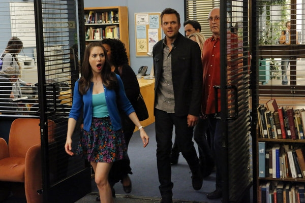 Alison Brie, Joel McHale, Chevy Chase Photo